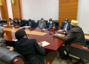 The meeting chaired by Rt. Hon. Moses Ali, the Acting Prime Minister at the Office of the Prime Minister following a directive by President Museveni