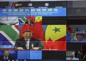 Chinese President Xi Jinping during a video conferencing meeting with some of the African leaders (PHOTO/Courtesy).