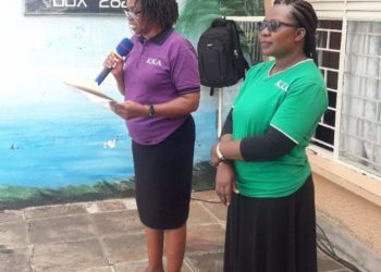 Kampala Kindergarten Association headmistress (purple T-shirt) has suspended all staff contracts ( PHOTO/Courtesy).