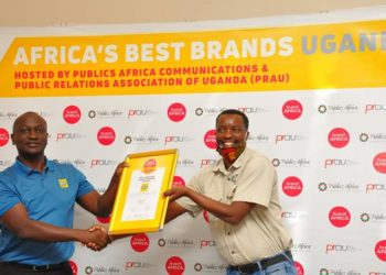 Mr Joseph Bogera the MTN Uganda General Manager – Sales and Distribution representing MTN Uganda at the award ceremony (PHOTO/File)