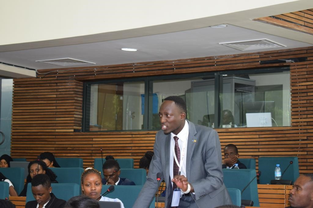 Brighten Abaho, a Lawyer and Advocacy and Communications personnel at Youth Line Forum