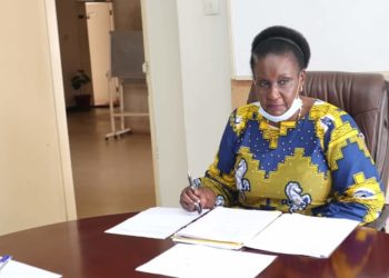 Trade Minister Amelia Kyambadde during a meeting with Kampala Landlords (PHOTO/Courtesy)