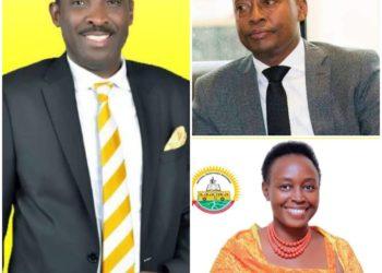 Mr. Mbareebaki (L), Ambassador Rukaari (topR) and Ms Mutungi (bottomL), all new entrants are leading the first polls (PHOTO/File).