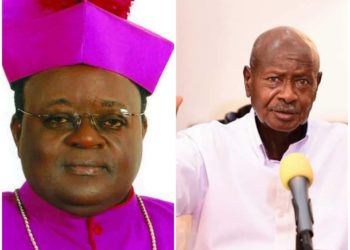 Archbishop Lwanga (L) of Kampala says lawyers want to take 50 percent  of the Shs. 17 billion payment from government and wanted intervention of President Museveni (PHOTO/File).