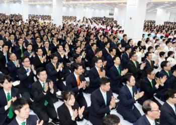 A congregation in the Eric Bujanganim Center in South Korea. (PHOTO/Courtesy)
