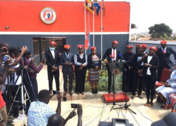 Tamale Mirundi Junior, son to former Presidential press secretary, broadcaster Innocent Tegusulwa and comedienne Lydia Nakiito alias Mama Sam were among the new members unveiled by 'People Power' as the movement unveiled its secretariats and new members on Tuesday (PHOTO/Courtesy).