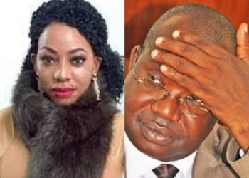 Socialite Bad Black aka Shanitah Namuyimbwa and State Minister for Ethics and Integrity (PHOTO/File)