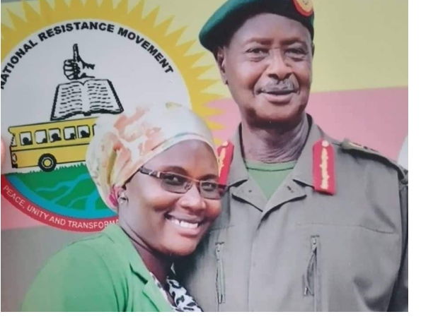 President Museveni and Hajjat Madina Naham (PHOTO/File)