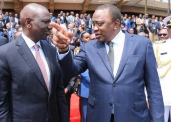 President Uhuru Kenyatta (L) and his Deputy William Ruto (PHOTO/File).