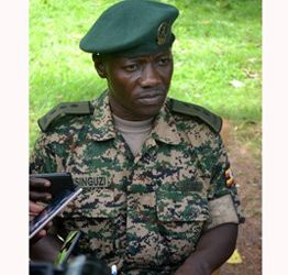 Jinja Zonal UPDF Spokesman, Capt George Musinguzi speaking to the press (PHOTO/Daily Monitor).