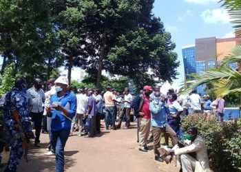 Some of the taxi operators who turned out to register their vehicles (PHOTO/Courtesy).