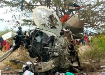 Kenya army helicopter has crashed in Machakos (PHOTO/Courtesy)