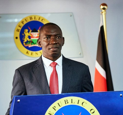 Kenya's government spokesperson Col. Cyrus Oguna (PHOTO/Courtesy)