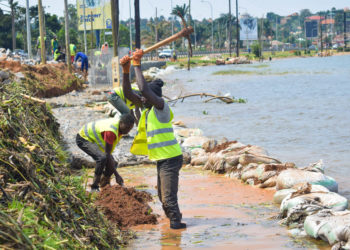 UNRA workers doing