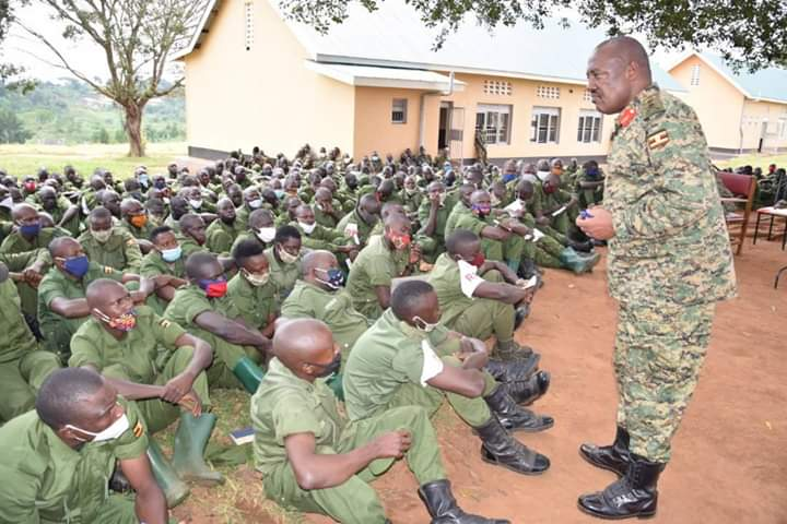 Maj Gen Sam Kavuma the Deputy Commander Land Forces has launched training of Local Defence Unit Personnel starting with those of Lubaga Battalion (PHOTO/Courtesy).