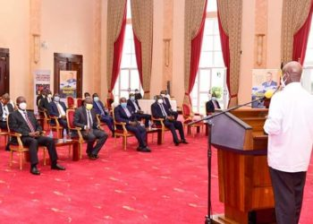 President Museveni has launched Bigirimana's two books at State House Entebbe (PHOTO/Courtesy).