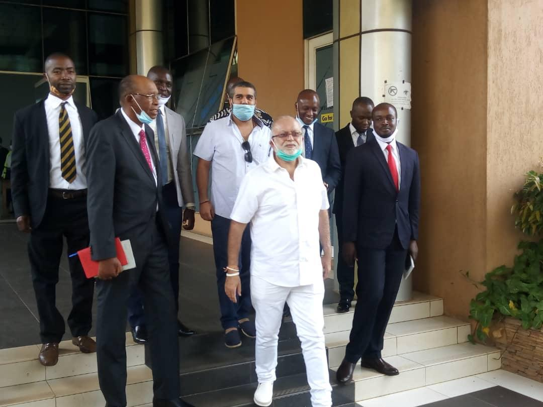 Mr. Sudhir and his lawyers from Kampala Associated Advocates at Court of Appeal on June 23. They have dismissed BoU reasons for appeal as innacurate and false (PHOTO/PML Daily).
