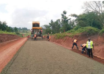 Muyembe to Nakapiripirit road under construction (PHOTO/Courtesy).