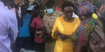 Dr. Jane Ruth Aceng Minister for Health in spotlight for flouting heathy guidelines on Coronavirus (PHOTO/Courtesy).