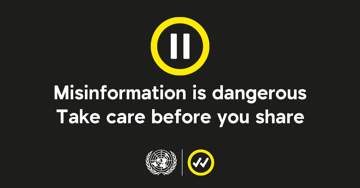 The aim of the Pause campaign is to highlight the dangers of sharing false information related to COVID-19 (PHOTO/Courtesy)
