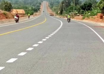 Progress of Bumbobi-Lwakhakha road. A section of the road in along Nabumali road (PHOTO/David Mafabi)