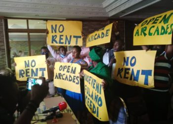 Traders lock horns with arcades owners over rent (PHOTO/PHOTO File).