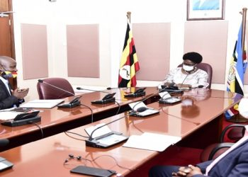 Speaker Kadaga(C) meets representatives of the rural broadcasters (PHOTO/Courtesy)