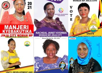 Some of the Jinja woman parliamentary seat aspirants (PHOTO/Courtesy).
