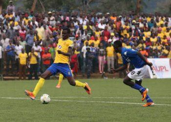 Nunda (8) scores a memorable goal against Onduparaka FC in the 2018/19 season. (PHOTO/Courtesy)
