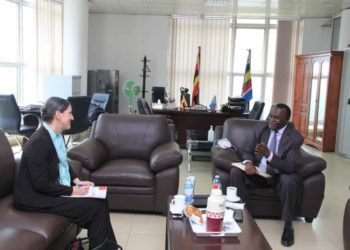 Dr Roswitha Kremser, the Head of Office of the Austrian Embassy, paid a courtesy call on the Ag. Chief Justice, Alfonse Chigamoy Owiny-Dollo