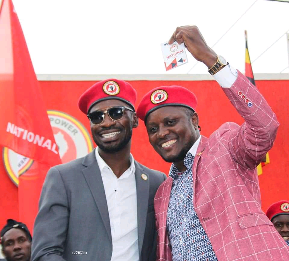 Bobi Wine together with Mawokota's Hilderman (PHOTO/Courtesy).