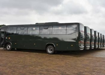 The brand new busese donated to UPDF (PHOTO/Courtesy)