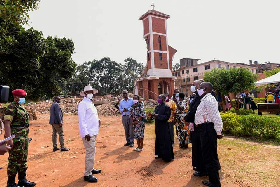President Museveni has assured the Catholic faithful that government will reconstruct the St. Peter's Ndeeba Church (PHOTO/PPU).
