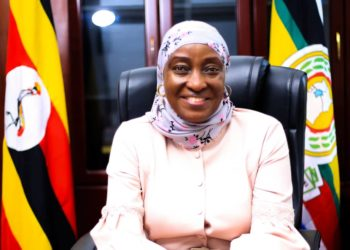Sarah Kanyike, State for Disability and Elderly Affairs in her office (PHOTO/Courtesy).