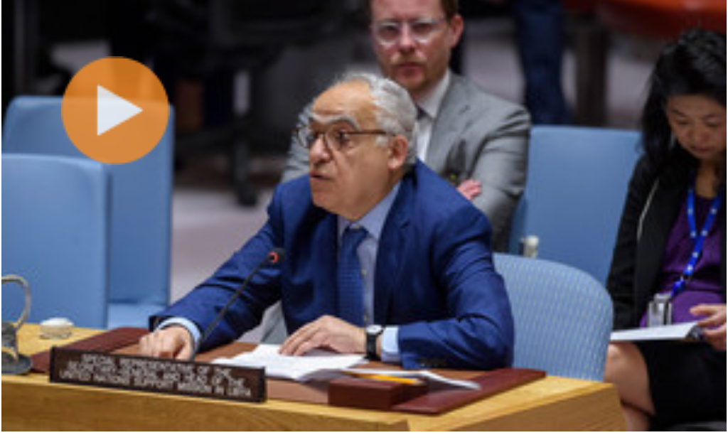 Loey Felipe Ghassan Salamé, Special Representative of the Secretary-General and Head of the United Nations Support Mission in Libya (UNSMIL), briefs the Security Council on the situation in Libya (PHOTO/File).
