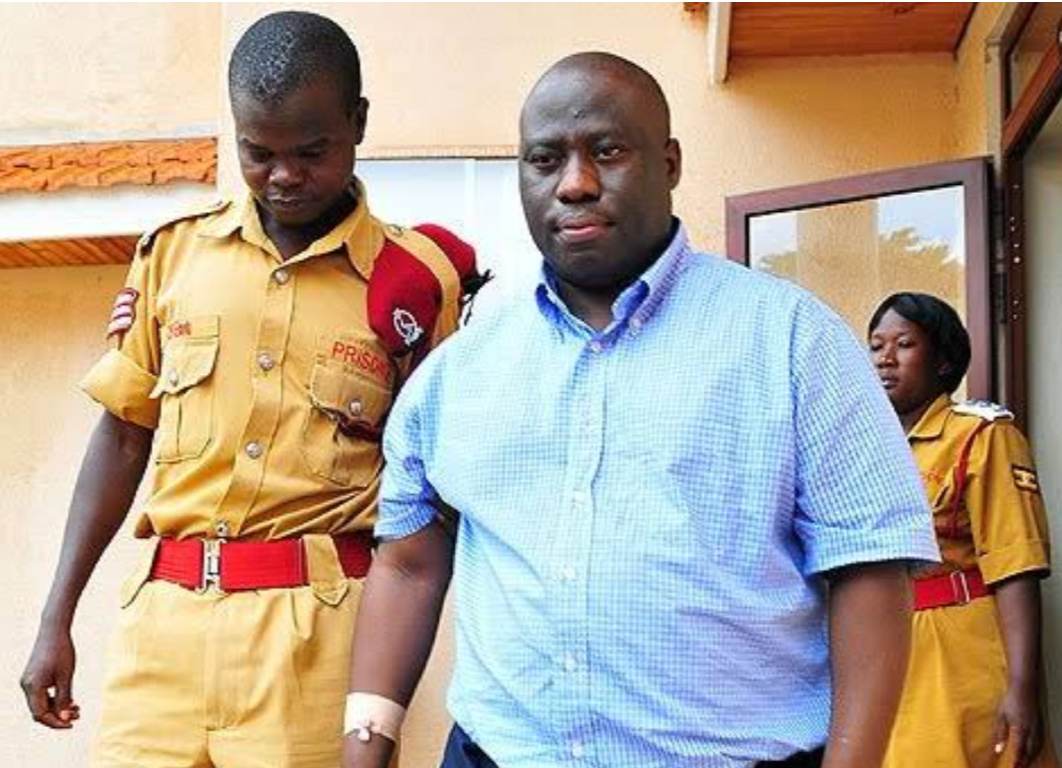 Geoffrey Kazinda, the former Principal Accountant in the Office of the Prime Minister being escorted to the court recently (PHOTO/File).