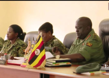 General Court Martial chaired by Lt. Gen Andrew Gutti during a hearing (PHOTO/Courtesy).