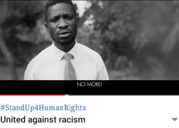 Bobi Wine led UNESCO's United Against Racism message to fight against racial discrimination (PHOTO/Screengrab)