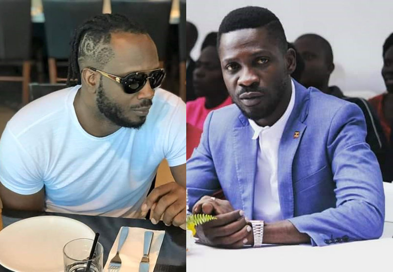 Singers Bebe Cool and Bobi Wine respectively (PHOTO/File).