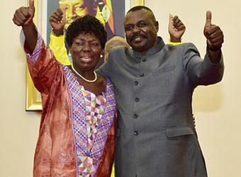 Speaker Rebecca Kadaga and her deputy Jacob Oulanyah respectively at Entebbe (PHOTO/File).