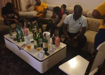 The arrested suspects having alcohol