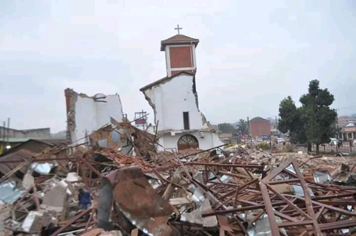 The demolished St. Peter's Church of Uganda (PHOTO/Courtesy).