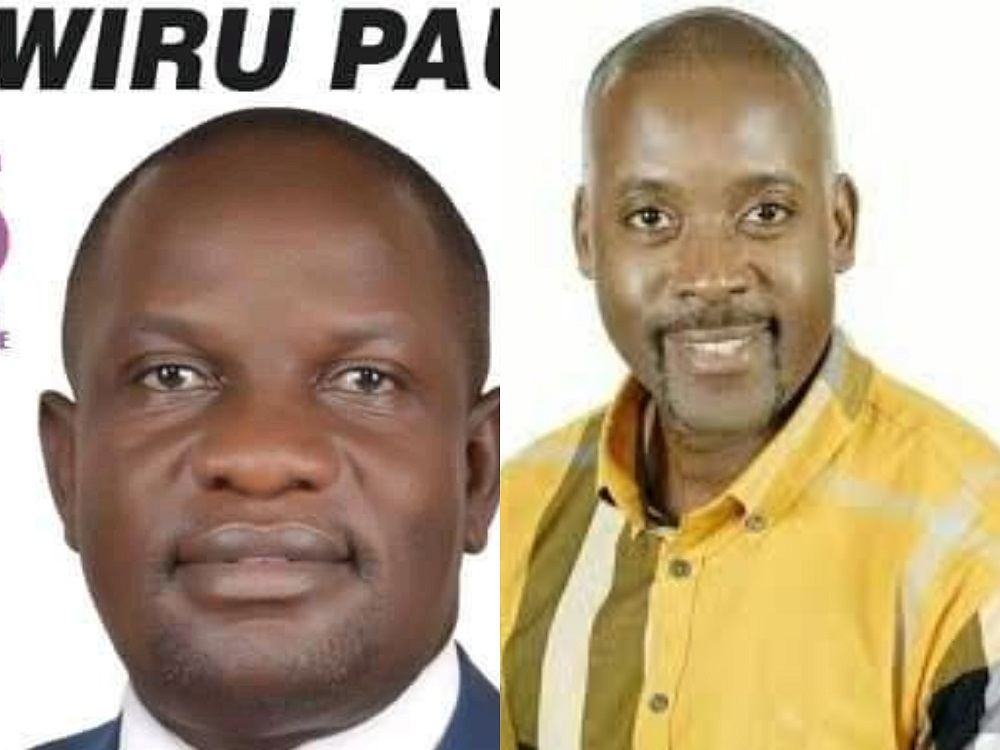 Jinja East MP seat aspirants, Paul Mwiru and former minister Nathan Igeme Nabeta (PHOTO/Courtesy).