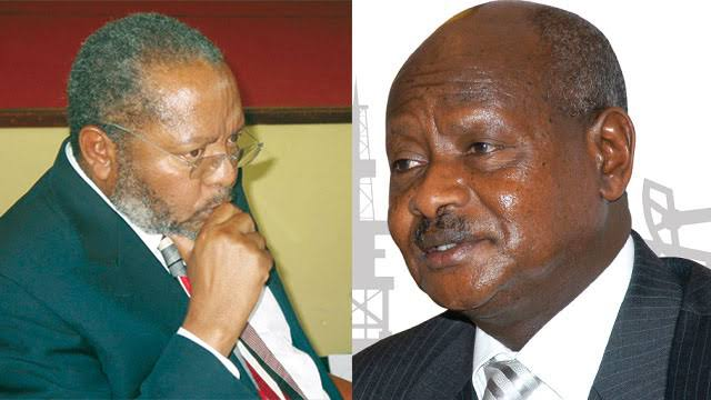 Central Bank Governor Prof Emmanuel Mutebile and President Yoweri Museveni (PHOTO/File)