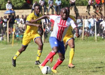 Bagoole (5) in action for Busoga United FC last season. (PHOTO/Courtesy)