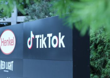 Photo taken on Aug. 21, 2020 shows a logo of the video-sharing social networking company TikTok's Los Angeles Office in Culver City, Los Angeles County, the United States (PHOTO/Xinhua).