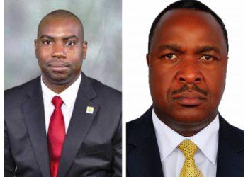 A collage photo of Mr Dicksons Kateshumbwa and Minister Elioda Tumwesigye (PHOTO/File).