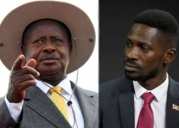 President Museveni and his top critic Bobi Wine (PHOTO/Courtesy).