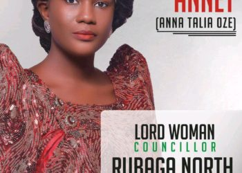 Anna Talia Oze for the Rubaga North Lord Woman councilor (PHOTO/Courtesy).