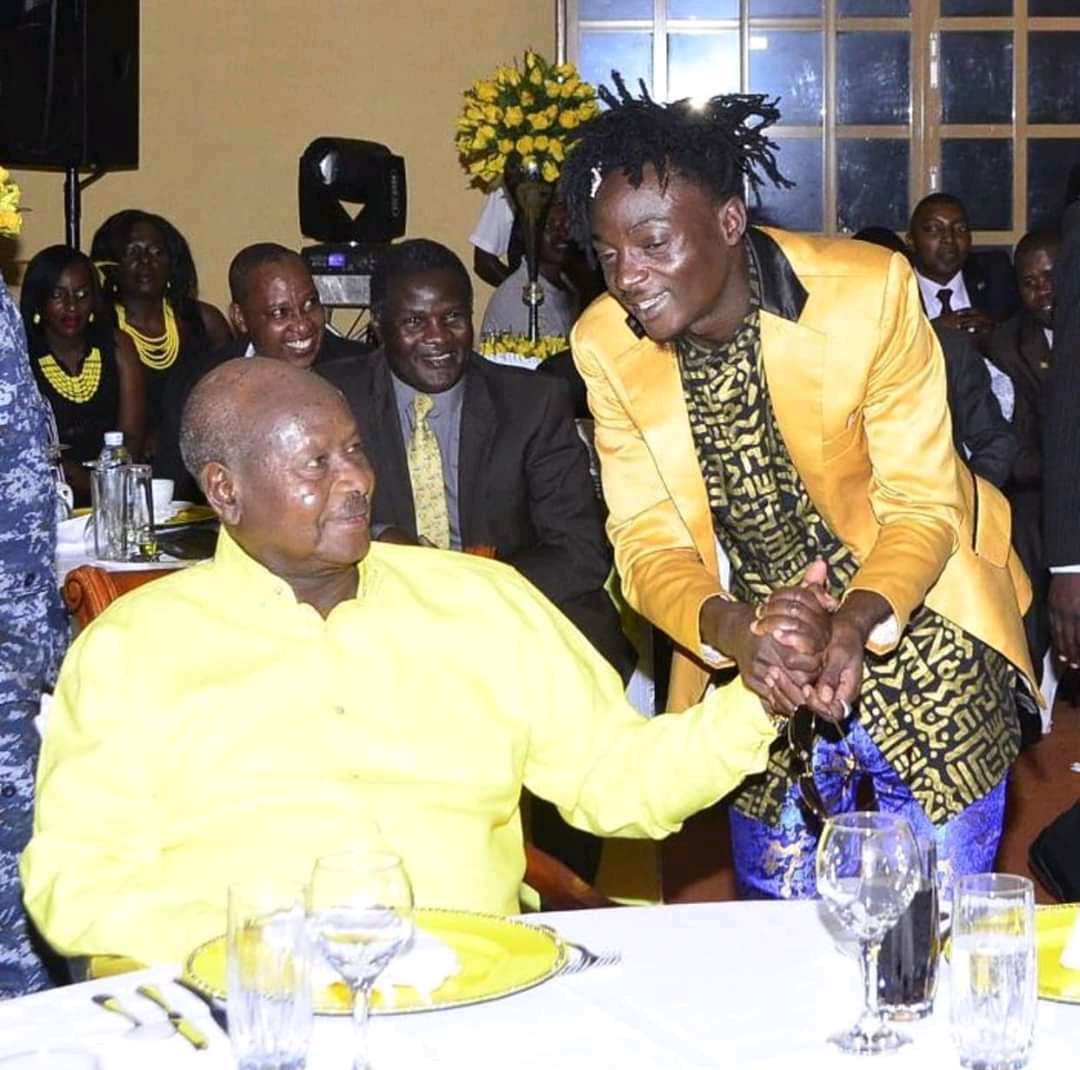 Singer Khalifa Aganaga records a song for President Museveni ahead of 2021 polls (PHOTO/Courtesy).